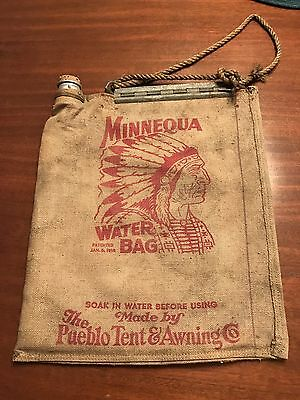 Antique Vintage Minnequa Water Canvas Bag- by Pueblo Tent & Awning