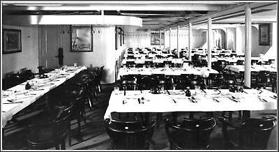 Photo: Rare View, RMS Titanic: The 3rd Class Dining Room Down On F-Deck