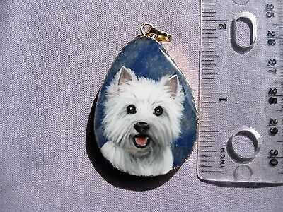 west highland terrier pendant on jasper