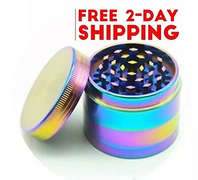 """Tobacco Grinder 4 Pieces Metal Zinc alloy 50mm 2.0"""" Herb/Spice Crusher Colorful"""