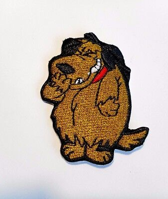 1x Mutley Boxer Dog Patch Embroidered Cloth Applique Patches Badge Iron Sew On