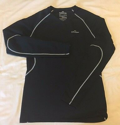 Kathmandu Men's Outdoor Hiking Black Thermal Long Sleeve Shirt Size Medium