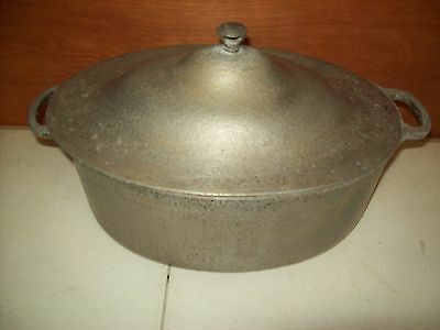 "Vintage Club Aluminum  Roaster Pan Pot w/ Lid  12 1/2"" x 9 1/2"" x 5"""