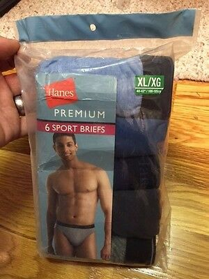 Hanes Men's Premium Sport Briefs 6 Pack Brand New