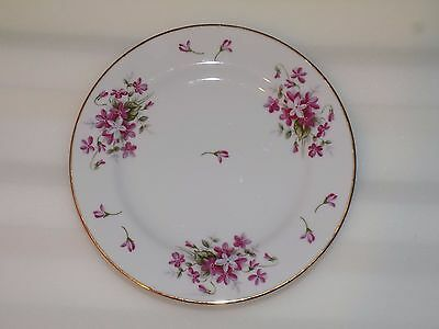 """SHEFFIELD FINE CHINA 8 Inch Plate """"SWEET VIOLETS"""" Japan JE51 Excellent Condition"""