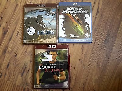 Blu-Ray Lot Incl. The Fast And The Furious, King Kong Both New, The Bourne Supre