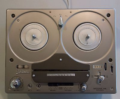 Tandberg Model 64 4 track stereo Reel to Reel, partially functional, PLEASE READ