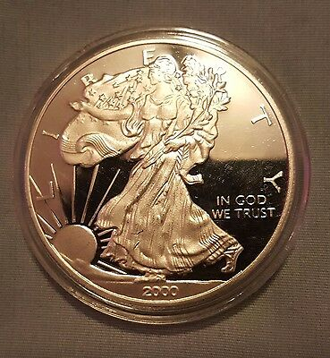 2000 W American Eagle Collectable Medallion Coin BU with Case, PLUS FREE GIFT!!