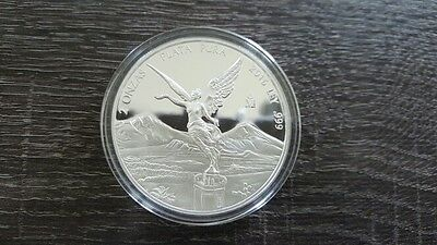 2016 2oz .999 Silver PROOF Mexico Libertad Coin in Capsule, mint condition