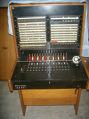 1920s -50s Antique Bell System Western Electric Telephone Switchboard & HEAD SET