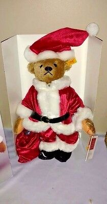 Vintage Steiff Santa Bear- All IDs, Mohair, MINT with GROWLER. In Original Box