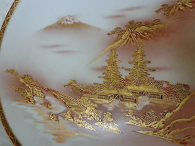 ANTIQUE  FUJI FINE QUALITY & SIGNED JAPANESE Kutani 9 in'' PLATE