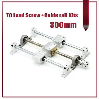 3d Printer Parts Linear Rail Guide T8 Lead Screw 300mm Slide Block Nut Housing