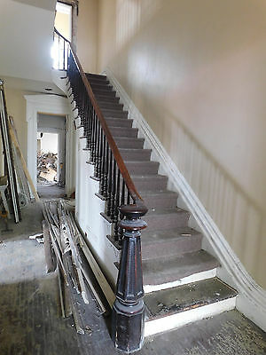 Antique Italianate Style Complete Walnut Staircase - 1860 Architectural Salvage