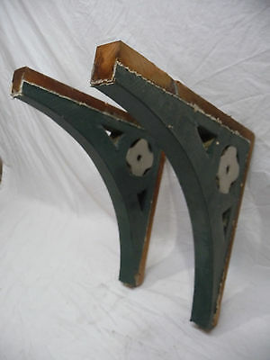 Two Victorian Eastlake Style Wood Corbels - C. 1890 Fir Architectural Salvage