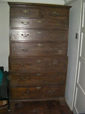 George lll mahogany chest on chest,  tallboy, chest of drawers