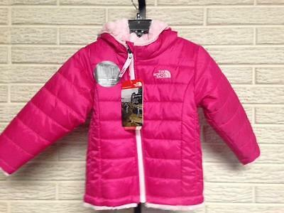 NEW The North Face toddler baby girls COAT pink reversable 18 24M NWT $80 #A866