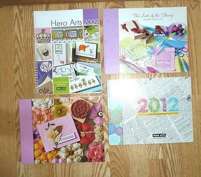 ONE Hero Arts 2010 2011 2012 2013 Rubber Stamp Catalog Card Ideas, Paper Crafts