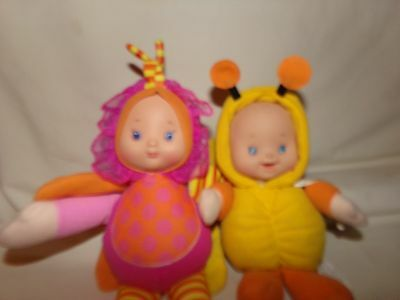 Cititoy Baby Doll ~ Cloth/Vinyl ~ Butterfly & Bee ~ with Rattle & Crinkle Sound