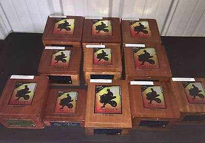 ACID Wooden Cigar Boxes! LOT OF 11 Assorted! B