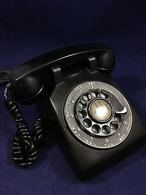 Vintage BLACK Rotary Dial Desk Telephone 500 BELL WESTERN ELECTRIC