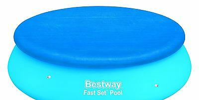 Bestway 10 ft Fast Set Swimming Pool Cover Round Paddling Sheet Protection
