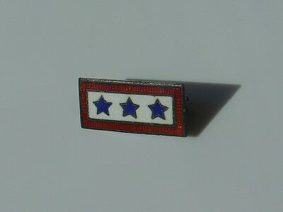 Vtg Vintage WWII 3 Sons in Service Son Triple Blue Star Sterling Silver Pin
