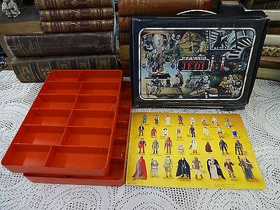 RARE Vintage 1983 Star Wars Return of the Jedi Action Figure Case w/ SCARCE Card