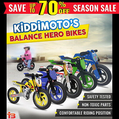 "NEW 12"" Balance Bike Kiddimoto Child Training Kids Push Bicycle Toddler Trainer"