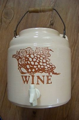 ( 3.78 L )  1 gal. UNMARKED  WINE POT  8 1/2 in.TALL