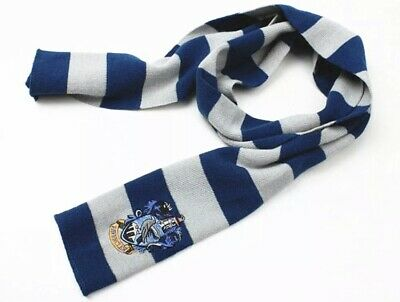 """Harry Potter Ravenclaw Scarf Blue & Gray Cosplay Costume Knit Wool 54"""" US Seller"""
