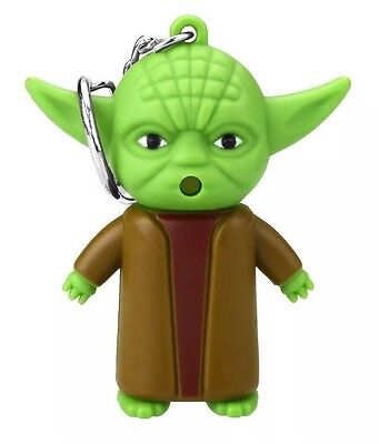 Star Wars Yoda Keychain with Sound Led Flashlight Figure 2 Inches US Seller