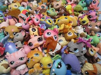 Lot Of 20 New Chinese Littlest Pet Shop Style Figures Loose Random Set US Seller