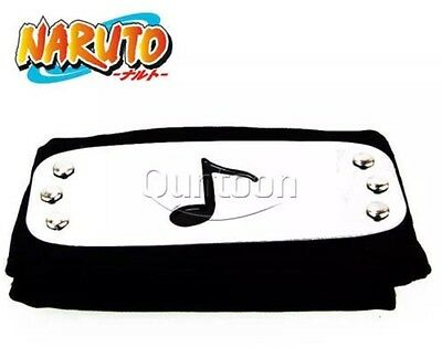 "Naruto Sound Village Black Headband Cosplay Anime 37"" US Seller"