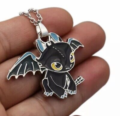 How To Train Your Dragon Toothless Pendant Metal Necklace Chain 3.5 cm US Seller