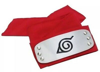 "Naruto Sakura Red Leaf Village Ninja Headband Cosplay Anime 37"" US Seller"