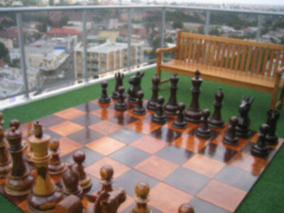 60cm (24 Inch High) Giant Teak Chess Pieces - (Set of 32, Board Not Included)