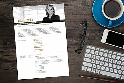 Clean Executive MS Word Resume Template - Fully Editable