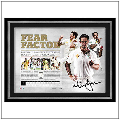Mitchell Johnson Fear Factor Personally Signed Lithograph UNFRAMED