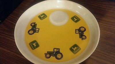 """John Deere Snack Plate By Gibson Dishwasher And Microwave Safe  9"""""""
