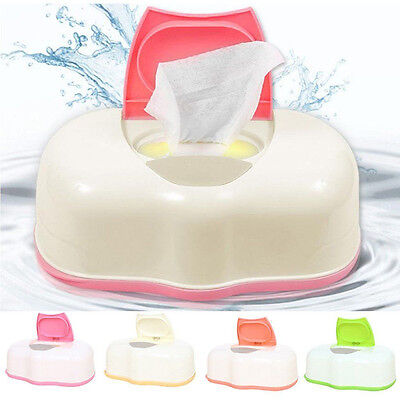 Baby Dry&Wet Tissue Paper Box Wipes Storage Case Holder Container Button Open UK