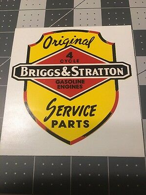 Briggs & Stratton 1950's Dealer Decal For Window Reproduction On Vinyl