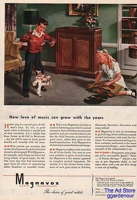 1945 Magnavox Fort Wayne IN Indiana Vintage Phonograph Music Puppet Print Ad