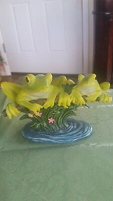 Adorable Frogs Sitting On Branch