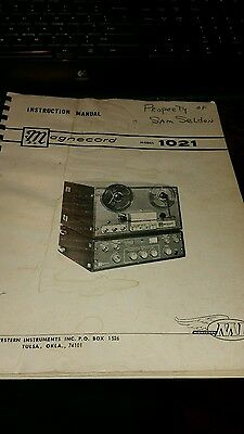magnecord 1021 reel to reel instruction manual tape amp vtg electronic book