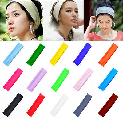 2Pcs Fashion Women Sports Sweatband Headband Elastic Hair Band Accessories