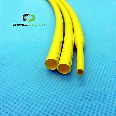 Heat Shrink-2.5mm dia-2:1 Shrinkable Tube/Wrap-500mm length (5 x 100mm) - YELLOW