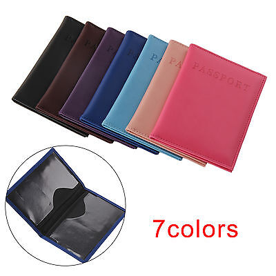 Travel Passport Cover Holder Case ID Card Faux Leather Protector Organiser UK