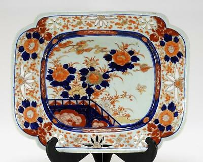 Japanese Imari Porcelain Square Serving Dish Lot 332