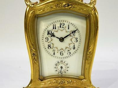French Gilt Bronze Rococo Repeater Carriage Clock Lot 145
